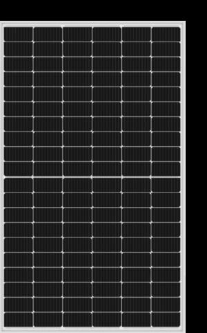 Aluminium frame (vaak een hoger vermogen dan het full black paneel)